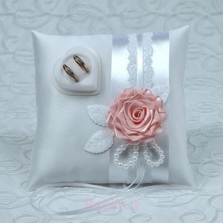 تزیین جاحلقه ای با گل و روبان,تزیین کوسن برای حلقه
