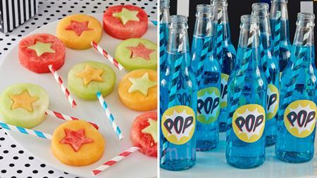 تزیین انواع خوراکی های جشن تولد, ایده هایی برای تزیینات جشن تولد