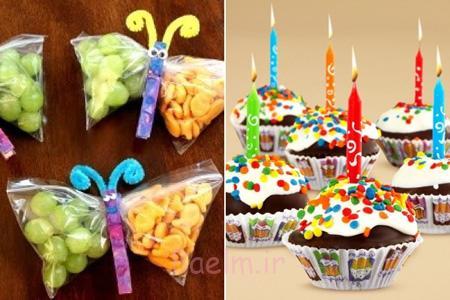 ایده هایی زیبا برای جشن تولد, مدل تزیین میوه و خوراکی های جشن تولد
