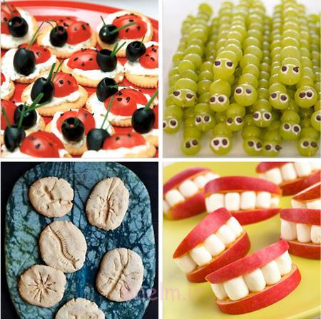نحوه چیدمان جشن تولد, تزیین انواع خوراکی های جشن تولد