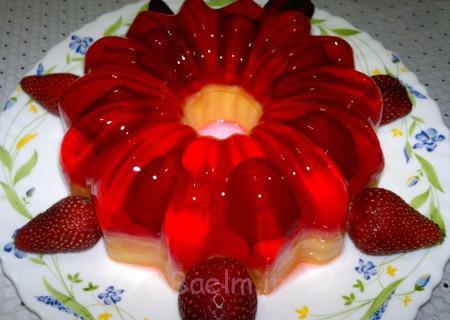 دسر ژله با میوه,تزیین ژله با میوه,تزیین انواع ژله با میوه