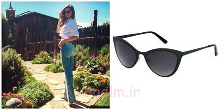 شیک ترین مدل عینک ستاره ها,عینک آفتابی به سبک ستاره ها