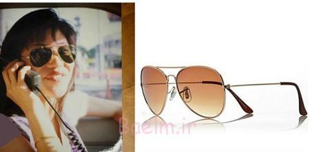شیک ترین مدل عینک ستاره ها,عینک های آفتابی ستاره ها