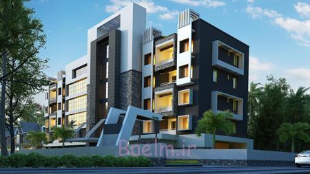 نمای ساختمان مسکونی,نورپردازی نمای ساختمان مسکونی,نمای ساختمان مسکونی سنتی