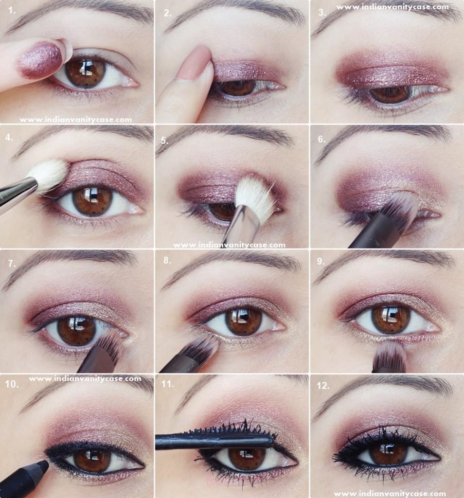 آلو طلا چشم آرایش آموزش