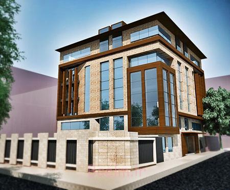تصاویر نمای ساختمان مسکونی,نمونه طراحی نمای ساختمان مسکونی,نمای ساختمان مسکونی