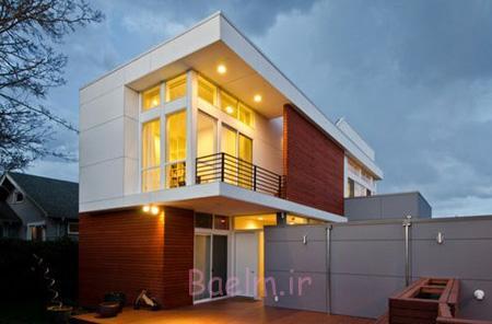 نورپردازی نمای ساختمان مسکونی,نمای ساختمان مسکونی,تصاویر نمای ساختمان مسکونی