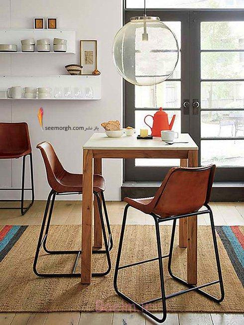 میز و صندلی ناهارخوری برای آپارتمان های کوچک - مدل شماره 1