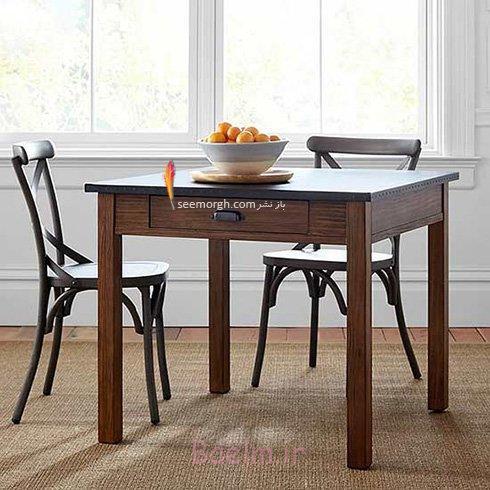 میز و صندلی ناهارخوری برای آپارتمان های کوچک - مدل شماره 2