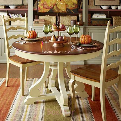 میز و صندلی ناهارخوری برای آپارتمان های کوچک - مدل شماره 4