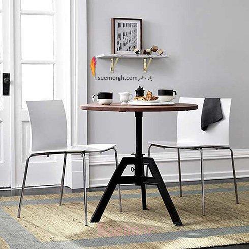 میز و صندلی ناهارخوری برای آپارتمان های کوچک - مدل شماره 7
