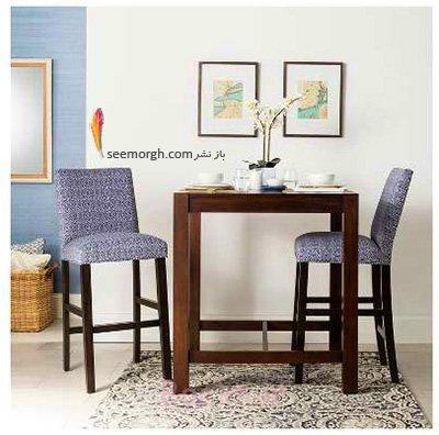 میز و صندلی ناهارخوری برای آپارتمان های کوچک - مدل شماره 8