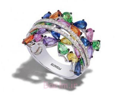 انگشترهای جواهر رنگارنگ,رنگارنگ ترین مدل انگشترها