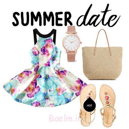 خاص ترین ست های رنگی,ست های رنگی لباس های تابستانی