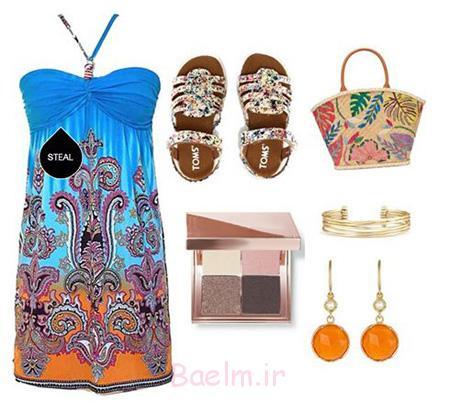خاص ترین ست های تابستانی,ست کردن لباس های رنگی تابستان