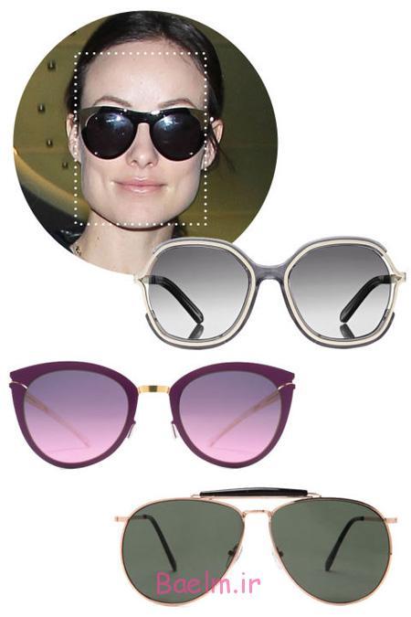 عینک های مناسب هر چهره, عینک های آفتابی مناسب چهره های متفاوت