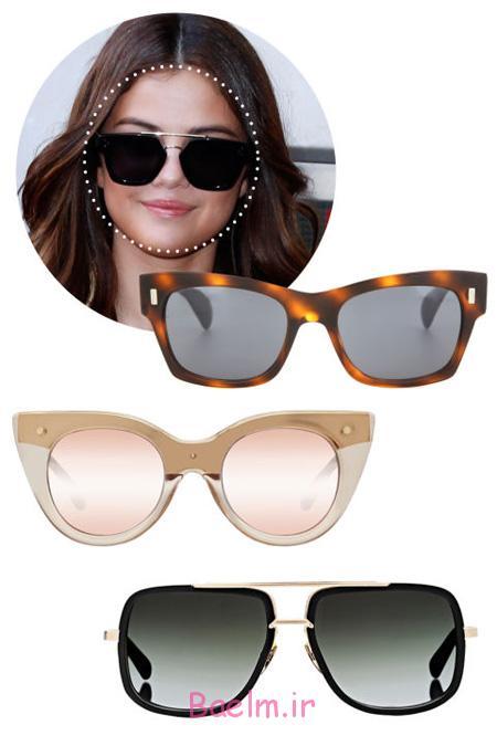 عینک آفتابی مناسب چهره ها,انواع صورت و انتخاب عینک های مناسب آن