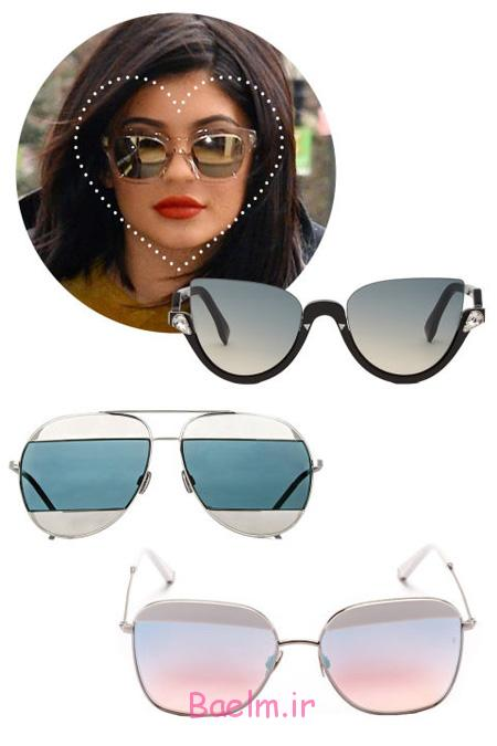عینک آفتابی مناسب صورت ها,عینک های مناسب هر چهره
