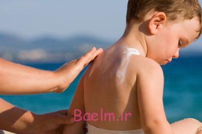 آفتاب سوختگی پوست صورت,آفتاب سوختگی پوست کودک