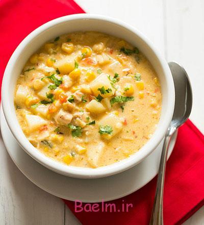 پخت سوپ جوجه با ذرت و شیر, طرز تهیه سوپ جوجه با ذرت