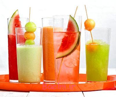 مواد لازم برای تهیه فالوده میوه ای,طرز تهیه فالوده میوه های تابستانی