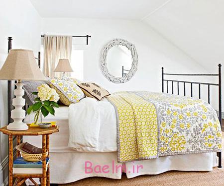 دکوراسیون زرد برای اتاق خواب,دکوراسیون اتاق خواب به رنگ تابستانی