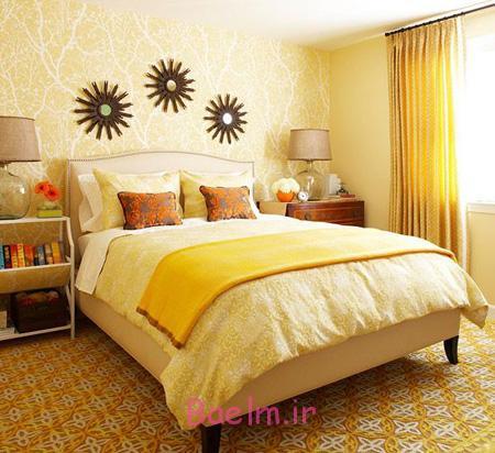 بهترین ترکیب ها برای یک اتاق خواب تابستانی,بهترین ترکیب رنگ تابستانی برای اتاق خواب