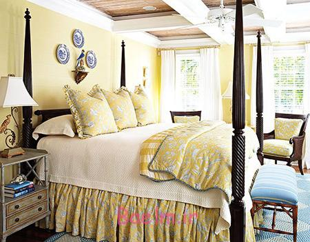 دکوراسیون اتاق خواب به رنگ تابستانی,بهترین رنگ برای دکوراسیون اتاق خواب