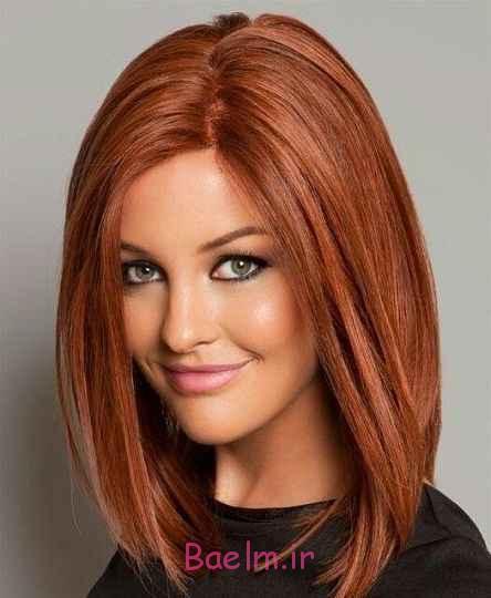 مدل-موی-زنانه-رنگی-طلایی-قهوه ای-مجلسی-