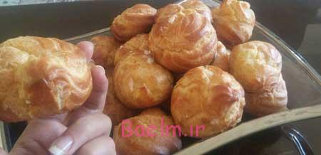 درست کردن نان خامه ای,طرز تهیه نان خامه ای