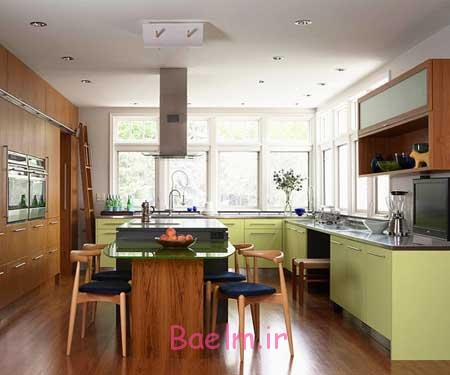 چیدن آشپزخانه رنگی,اصول چیدمان آشپزخانه های رنگی