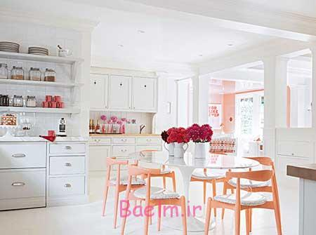 دکوراسیون آشپزخانه رنگی,استفاده از رنگ های شاد در چیدمان آشپزخانه