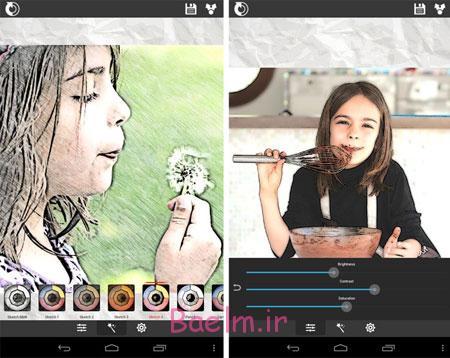 تبدیل عکس به نقاشی, گوشیهای اندروید