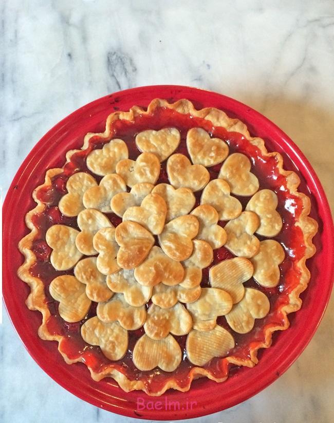طرز تهیه پای گیلاس دسری شیک و مجلسی-valentine-cherry-pie