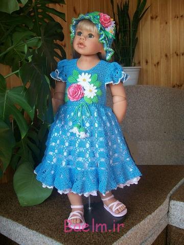 لباس قلاب بافی،مدلهای لباس قلاب بافی،قلاب بافی،قلاب بافی دختر بچه،دختر بچه
