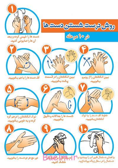 روش صحیح شستن دست