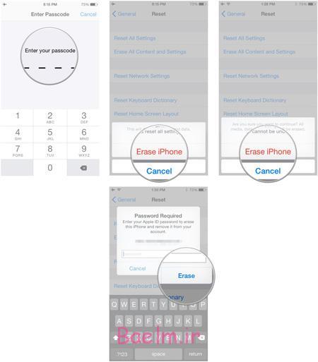 پاک کردن کامل اطلاعات از روی گوشی آیفون , ترفند آیفون