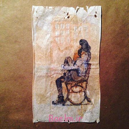 اخبار,اخبار گوناگون,363 روز نقاشی بر روی چای کیسه ای