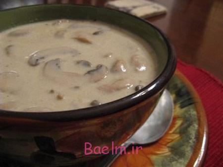 طرز تهیه سوپ خوش طعم, طرز تهیه سوپ قارچ و خامه
