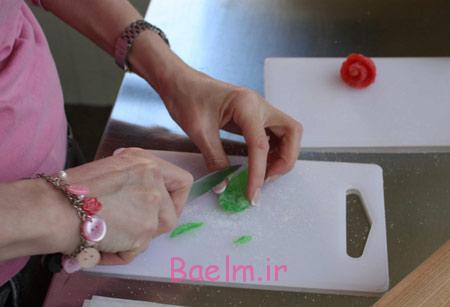 تزیین پاستیل به شکل گل,درست کردن گل رز پاستیلی