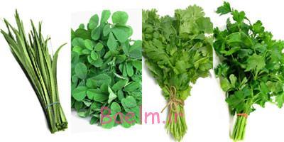 نکات مهم آشپزی, نحوه پاک کردن سبزی