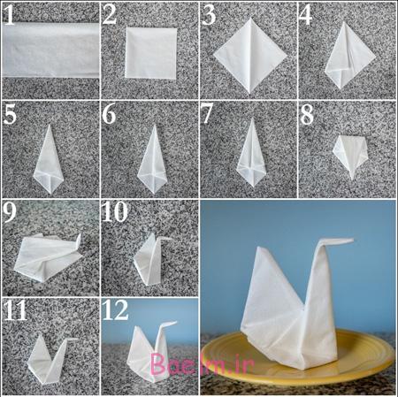 مراحل تزیین دستمال سفره, روش های تزیین دستمال سفره