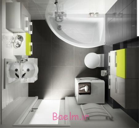 دکوراسیون حمام و دستشویی کوچک,طراحی حمام های کوچک