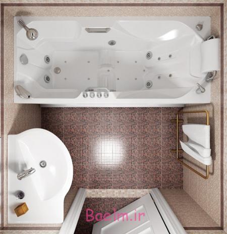 طراحی حمام های کوچک, طراحی مدرن حمام های کوچک