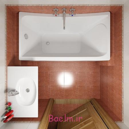 حمام و سرویس بهداشتی های کوچک,طراحی سرویس بهداشتی های کوچک