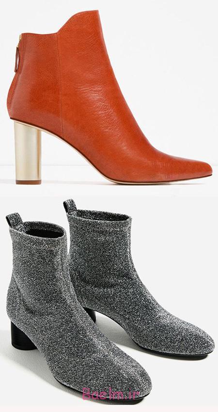 کفش پاییزی زنانه برند زارا, مدل نیم بوت زنانه