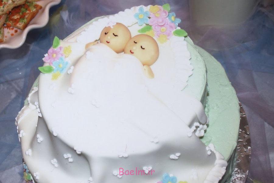 Cake Baby Shower Twins :