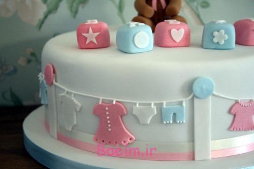 کیک تولد نوزاد دختر