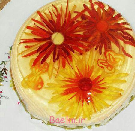شیک ترین تزیینات ژله,تزیین گل رز سیب با ژله