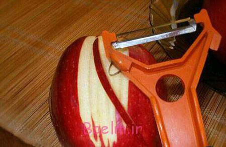 تزیینات زیبای ژله با سیب,آموزش تصویری تزیین ژله باسیب